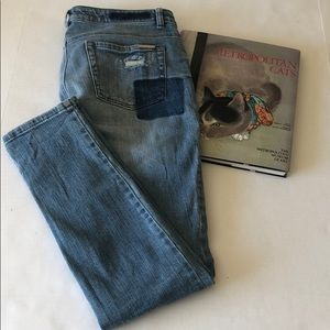 Michael Kors Patched & Distressed Skinny Jeans